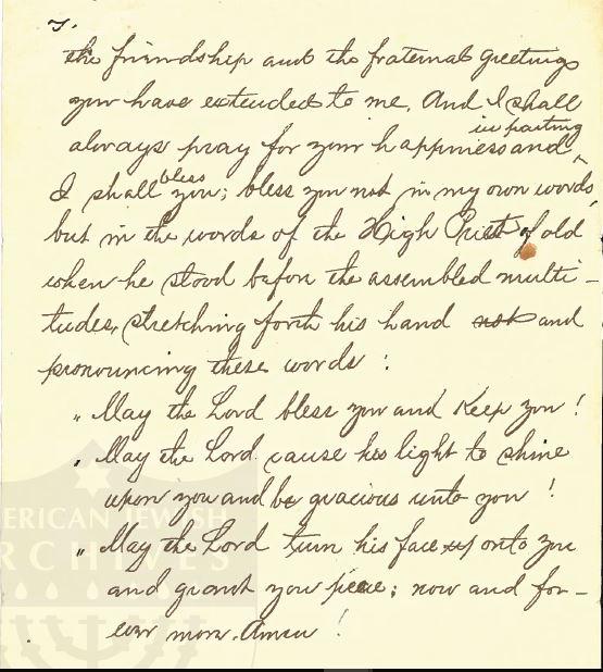 Henry Schoenthal 1912 sermon p 4