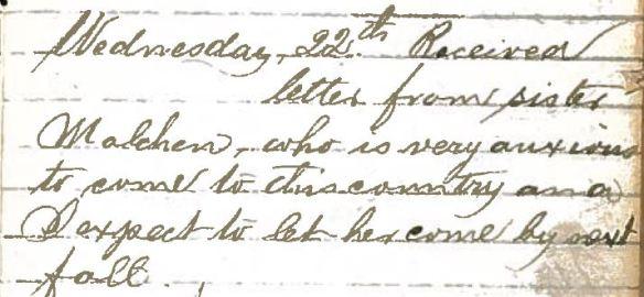 Henry Schoenthal diary p 10 B