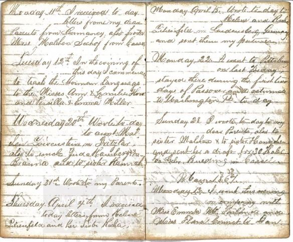 Henry Schoenthal diary p 9