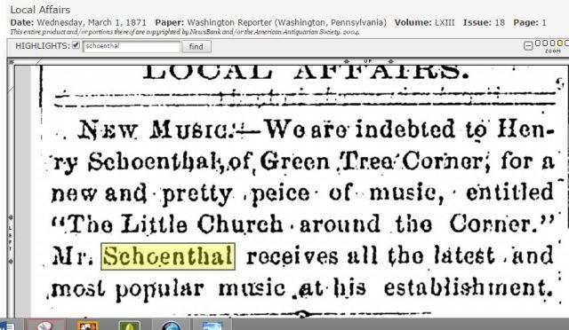 Henry Schoenthal music