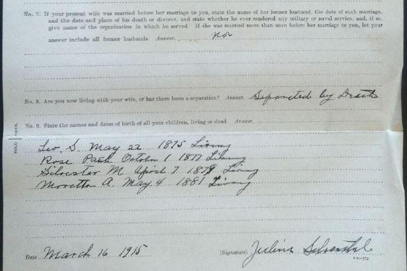 Julius Schoenthal pension file pt 2