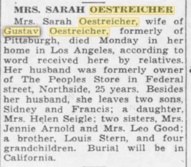 Pittsburgh Post-Gazette, February 7, 1940 p. 24