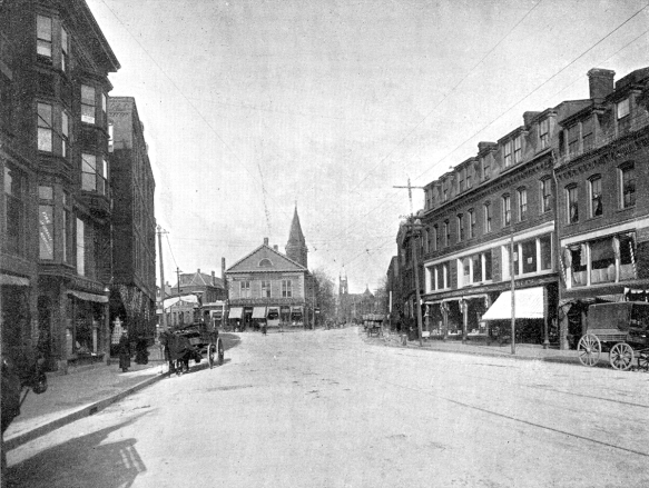 Brookline in 1900 when the Schoenthals arrived http://www.brooklinehistoricalsociety.org/archives/images/village_1900Large.jpg