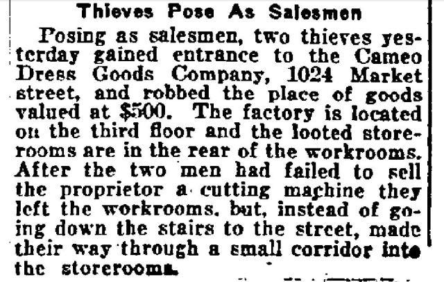 Philadelphia Inquirer, April 9. 1921, p 3