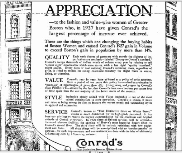 Boston Herald, January 4, 1928, p. 10