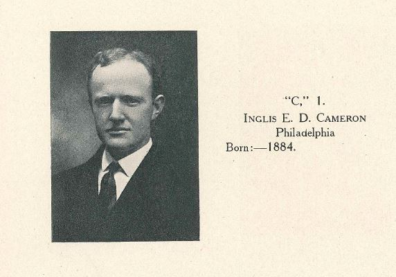 Inglis Cameron from UPenn 1909 yearbook