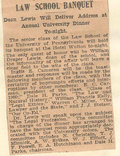 Philadelphia Evening Bulletin March 15, 1909