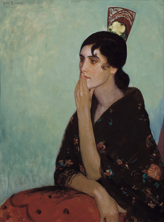 La Gitano by Louis Kronberg, about 1920, at the Isabella Stewart Gardner Museum, Boston