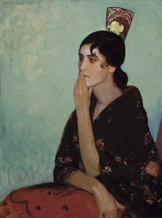 La Gitano by Louis Kronberg, about 1920, at the Isabella Stewart Gardner Museum, Boston