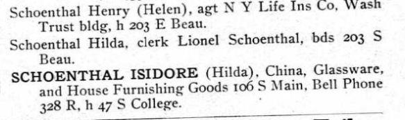 Schoenthals 1903 directory 1