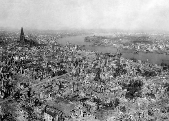 Cologne, after bombing of World War II By U.S. Department of Defense. Department of the Army. Office of the Chief Signal Officer. [2] [Public domain], via Wikimedia Commons HTML Attribution not legally required