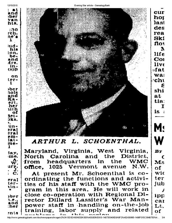 Arthur Schoenthal promoted 1942-page-003