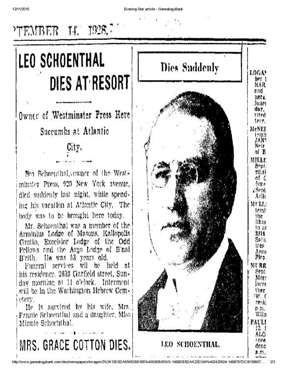Washington Evening Star, September 14, 1928, p. 9