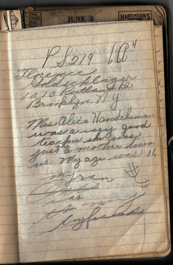Grandpa Notebook 2 Mom note about teacher