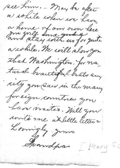 Henry letter to Florence 1918 2