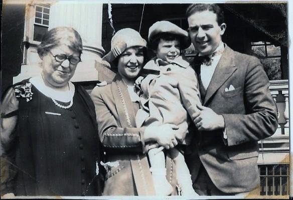 Hilda (Katzenstein) Schoenthal, Eva Schoenthal Cohen, Eva Hilda Cohen, and Harold Schoenthal