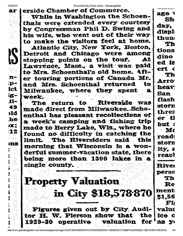 Riverside Daily Press article - Meyer Schoenthal road trip 1929-page-003