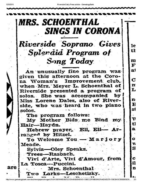 Riverside Daily Press article -Mrs Meyer Schoenthal soprano-page-002