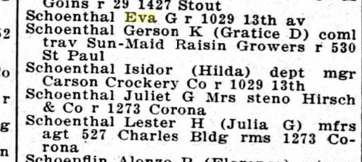 1922 Denver directory
