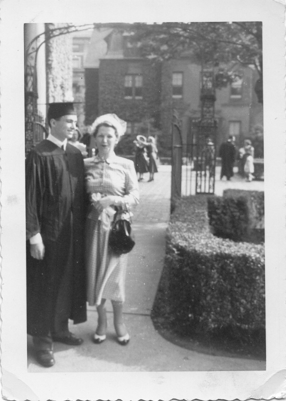 My father and my grandmother at his graduation from Columbia, 1952