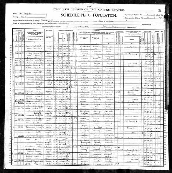 Jacob Miller and family and his brothers on 1900 census Year: 1900; Census Place: Precinct 1, Pima, Arizona Territory; Roll: 47; Page: 18B; Enumeration District: 0049; FHL microfilm: 1240047