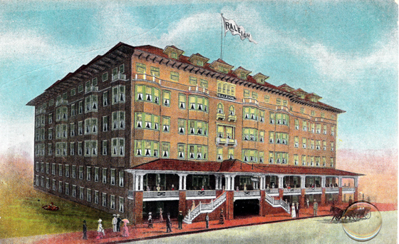 Raleigh Hotel, Atlantic City, found at http://www.monopolycity.com/ac_earlyhotels.html