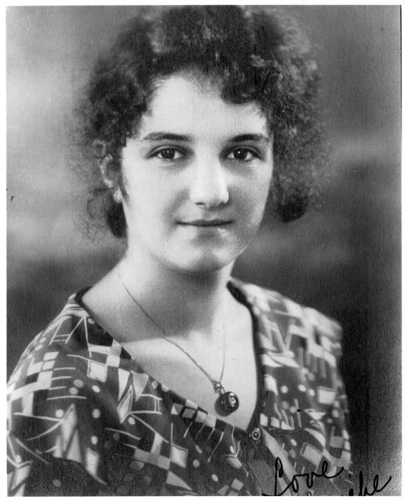 Blanche Stein, high school graduation picture