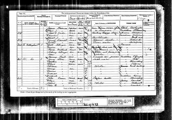 Gali Selinger and family 1881 UK census Class: RG11; Piece: 472; Folio: 118; Page: 55; GSU roll: 1341103 Description Enumeration District : 9 Original data: Census Returns of England and Wales, 1881. Kew, Surrey, England: The National Archives of the UK (TNA): Public Record Office (PRO), 1881