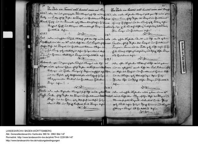 landesarchiv_baden-wuerttemberg_generallandesarchiv_karlsruhe_390_nr-_2862_bild_147_4-1229196-147 Birth record for Helena Selinger from Hurben