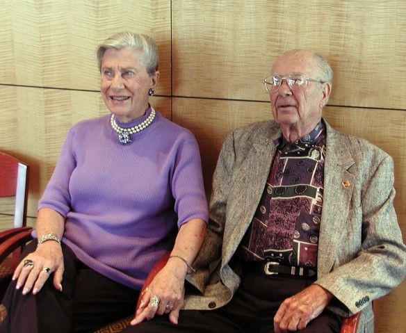 Walter and Ruth Stein, 2002 at Blanche's 90th birthday celebration