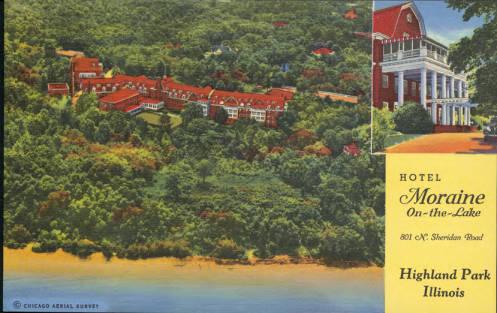 Hotel Moraine, postcard found at http://www.idaillinois.org/cdm/ref/collection/posttest/id/404