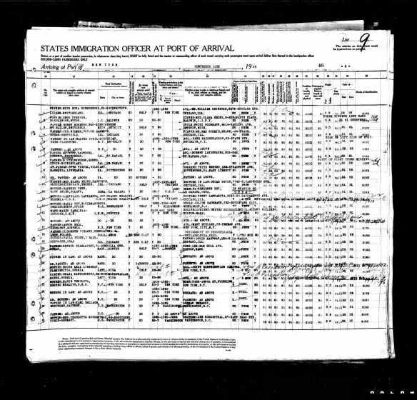 Meyer N Schoenthal 1929 ship manifest page 2
