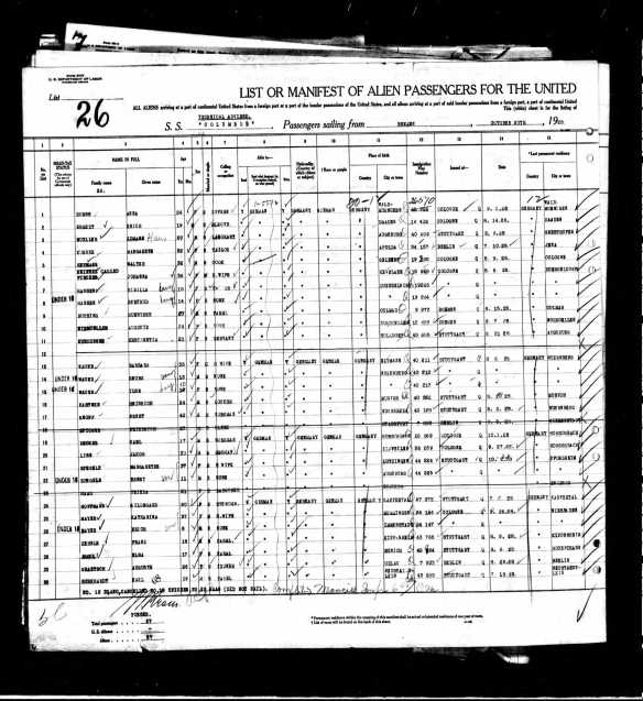 Walter Heymann 1928 ship manifest Year: 1928; Arrival: New York, New York; Microfilm Serial: T715, 1897-1957; Microfilm Roll: Roll 4373; Line: 1; Page Number: 141