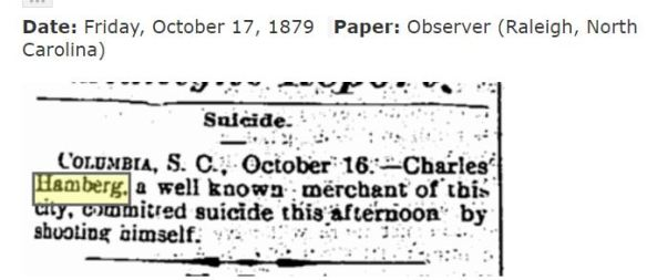 Charles Hamberg suicide