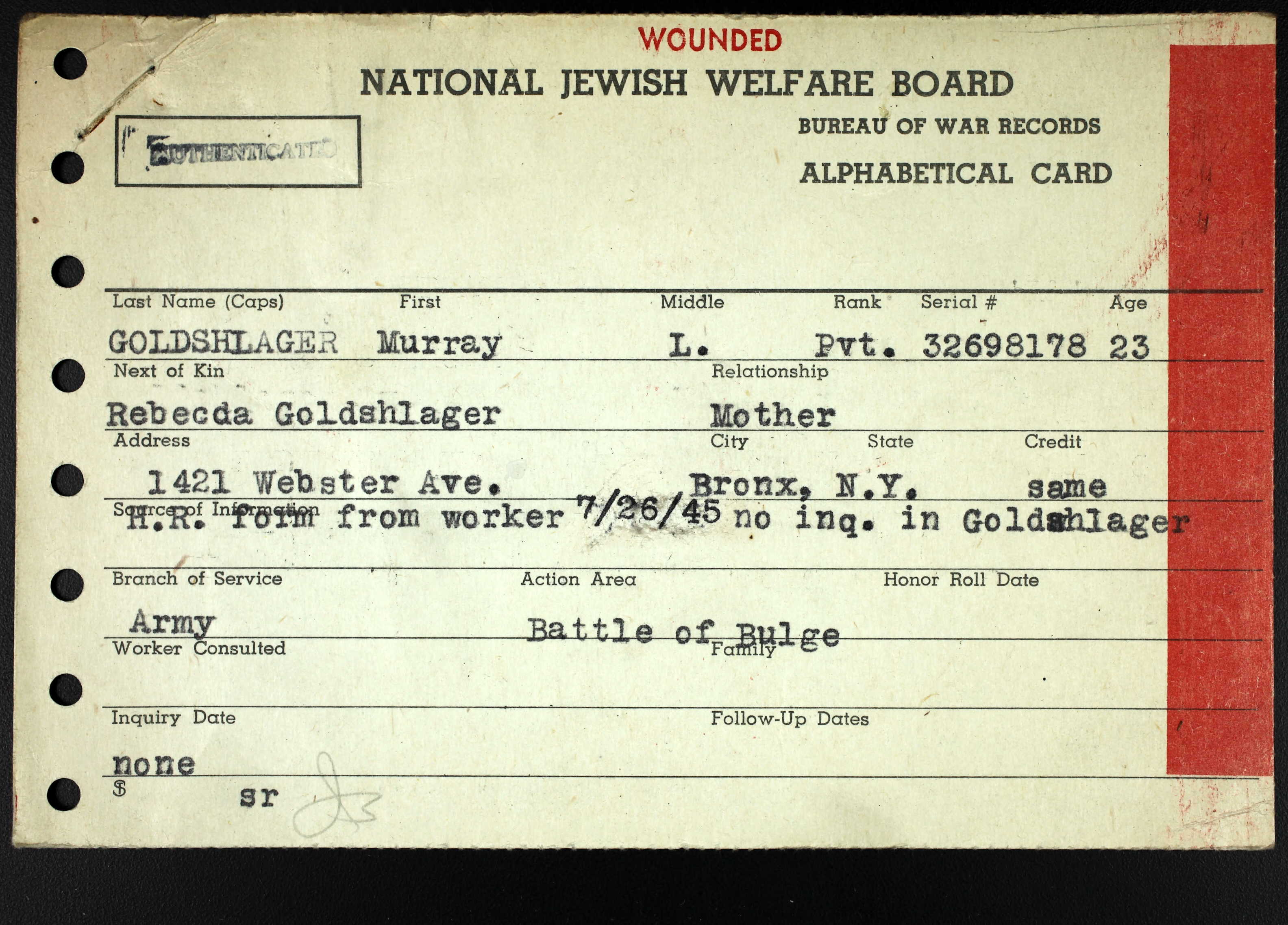 Tucson brotmanblog a family journey ancestry us wwii jewish servicemen cards 1942 1947 database aiddatafo Image collections