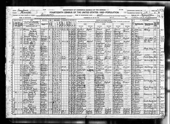 Meyer and Amanda Baer Herman 1920 census Year: 1920; Census Place: Philadelphia Ward 22, Philadelphia, Pennsylvania; Roll: T625_1623; Page: 8A; Enumeration District: 591; Image: 961