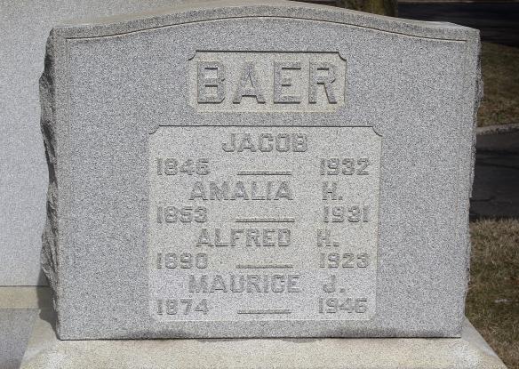 Baer headstone, Mt Sinai cemetery http://www.findagrave.com/cgi-bin/fg.cgi?page=pv&GRid=142568110&PIpi=135486843