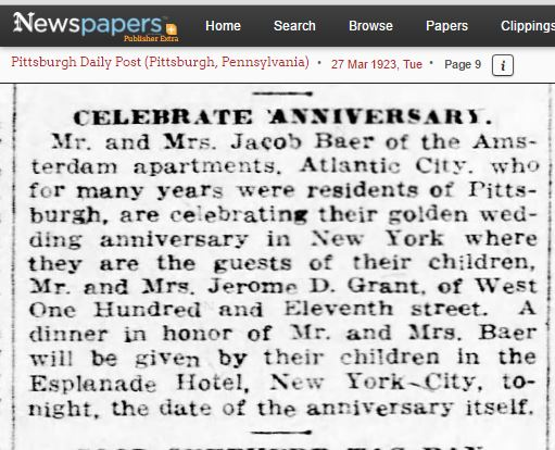 Jacob and Amalia Baer anniversary party