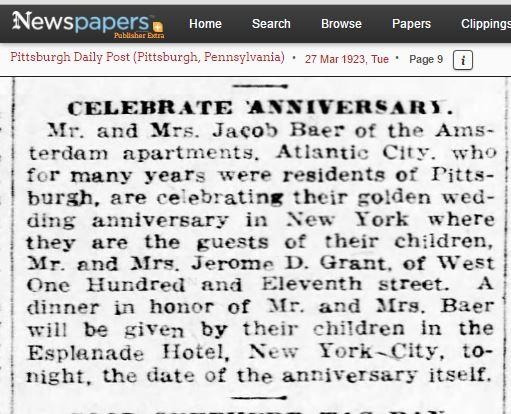Jacob and Amalia Baer anniversary party