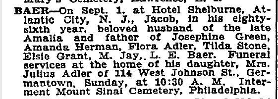 NY Times, September 3, 1932