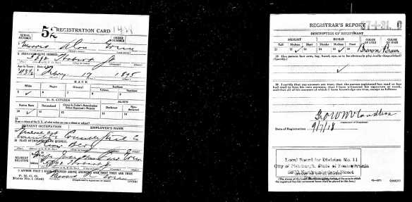 Morris A Green, World War I draft registration Registration State: Pennsylvania; Registration County: Allegheny; Roll: 1909239; Draft Board: 11