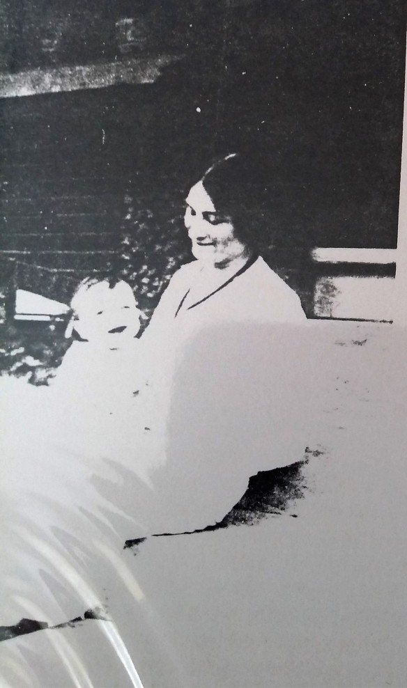 Flora Baer Adler and one of her children