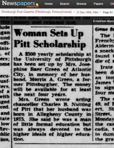Morris Green scholarship