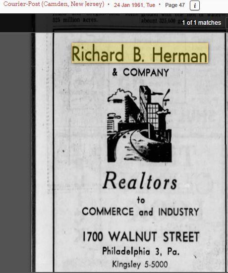 Richard B. Herman ad