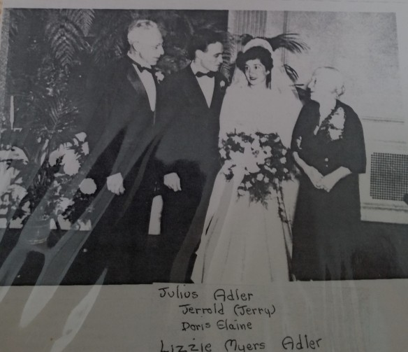 Wedding of Jerrold Adler and Doris Getz, October 6, 1946
