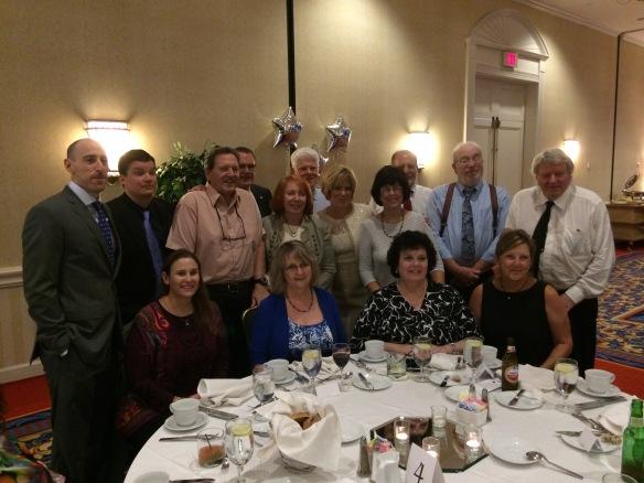 Celebrating Ben's bar mitzvah---the Brotman cousins, all descendants of Joseph Brotman and Bessie Brod