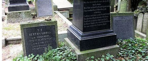 Headstones for Bertha Seligmann Gross and Bernhard Gross in the Jewish cemetery in Bingen http://www.juedisches-bingen.de/43.0.html