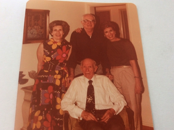 Standing: Betty, Gerald, and Elaine Seated: Sidney Oestreicher Striker
