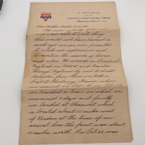 Frank December 8 1918 letter 1
