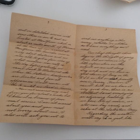 Frank December 8 1918 letter 2